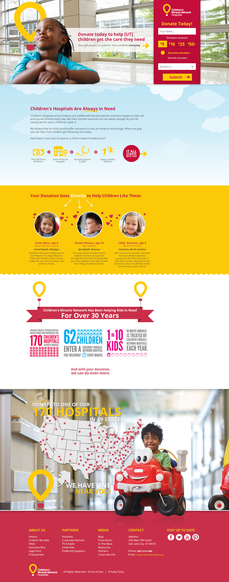 New Children's Miracle Network Hospitals's home page