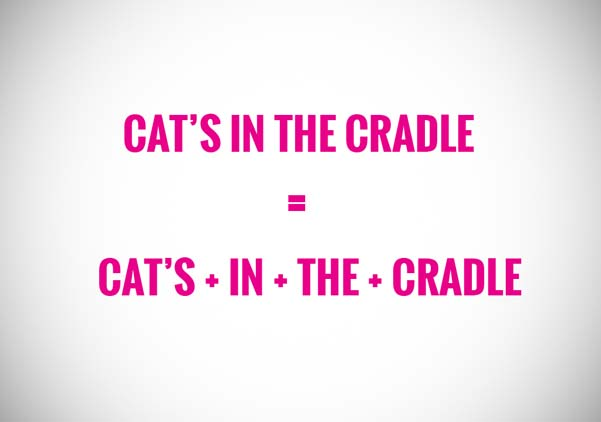cat's in the cradel is a keyword string