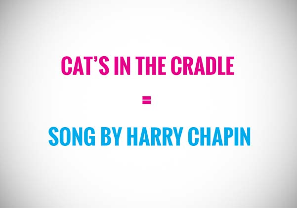 cat's in the cradle is a song by harry chapin