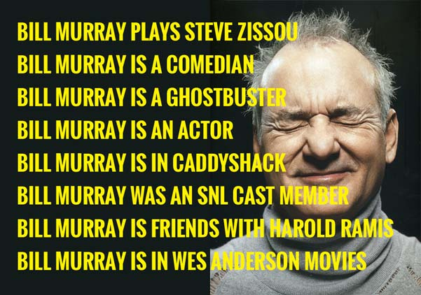 sentences about Bill Murray