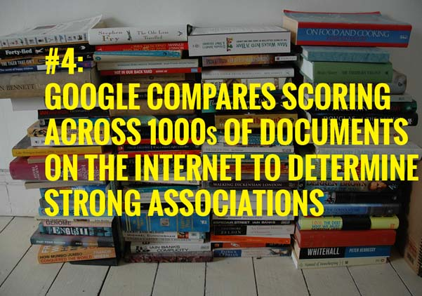 Google compares scoring across 1000s of document across the internet