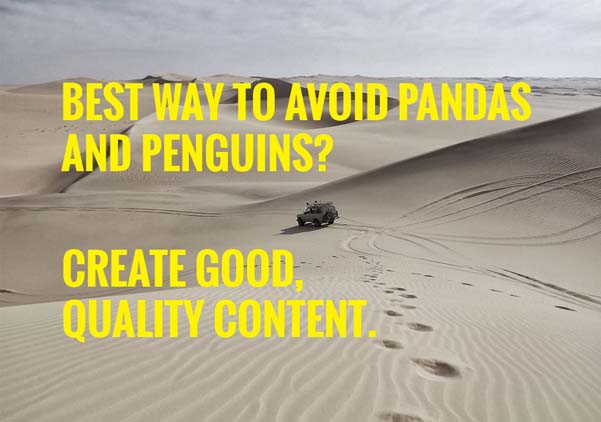 the best way to avoid panda and penguin?