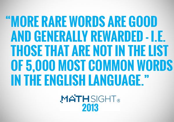more rare words are good