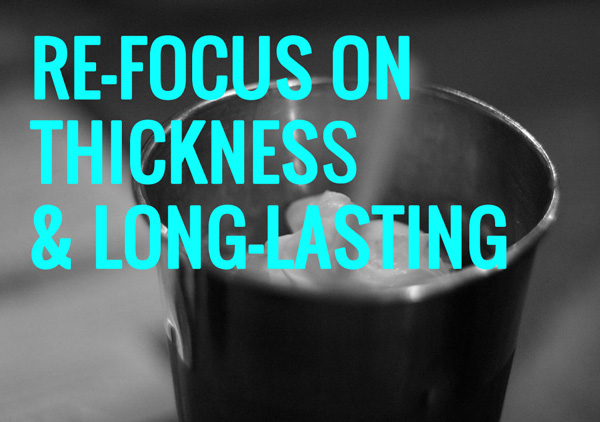 re-focus on thickness and the long-lasting nature of your milkshakes