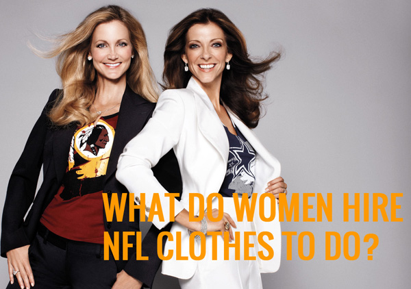 What do women hire NFL clothes to do?