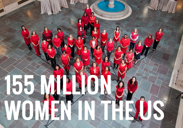155 million women in the US