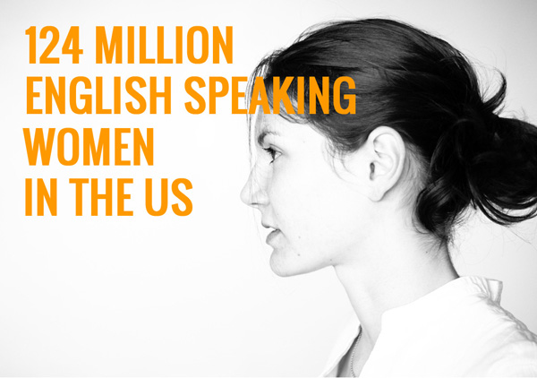 124 million English speaking women in the US